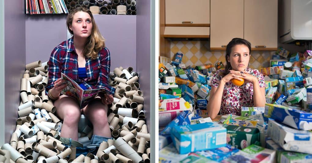 Фотограф не выбрасывал мусор 4 года, чтобы показать, сколько отходов мы производим
