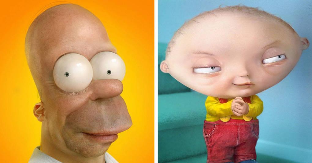15 реалистичных героев мультфильмов, встретив которых вы бы захотели убежать