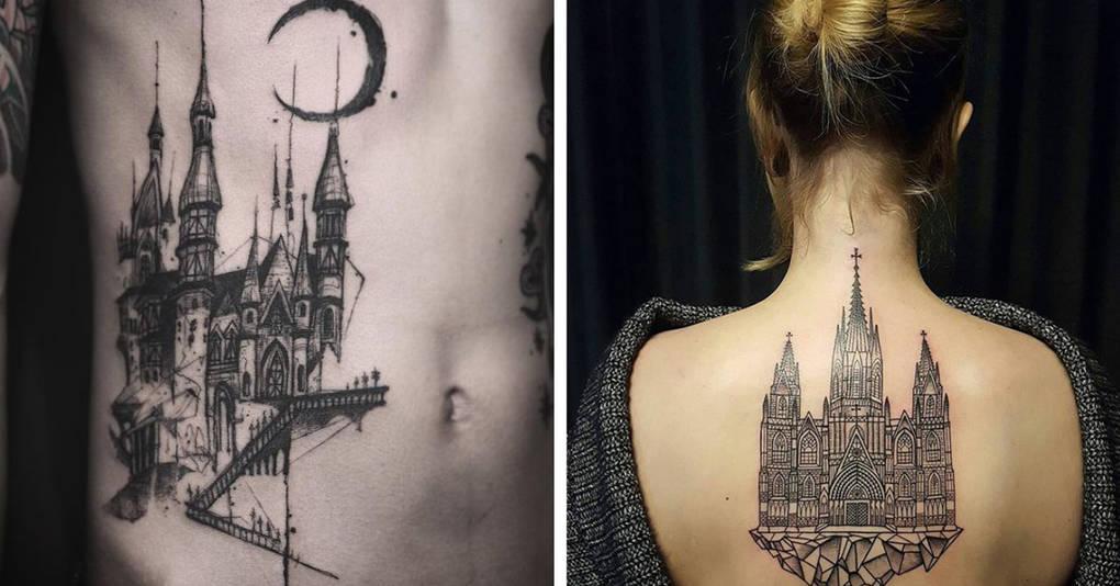 20 архитектурных татуировок, которые понравятся даже тем, кто их не любит