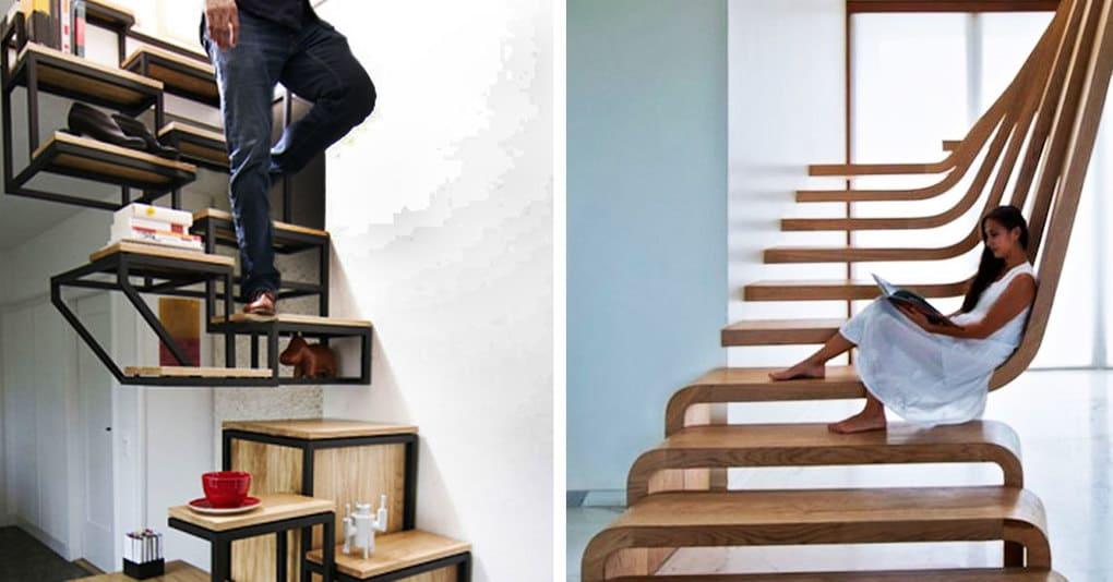 20 невероятных лестниц, которые вдохновляют на креатив