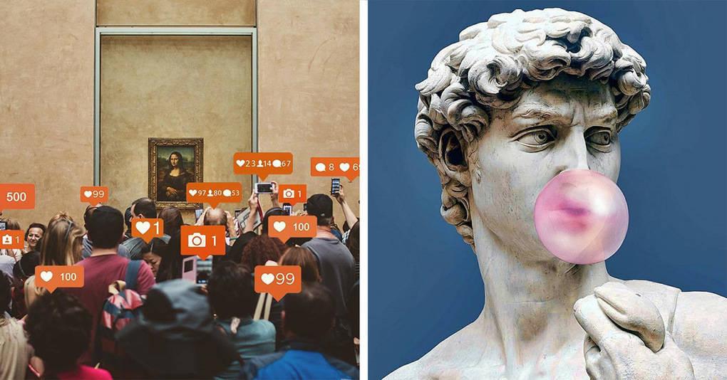 Художник переносит героев мировых шедевров в современный мир, и это гениально