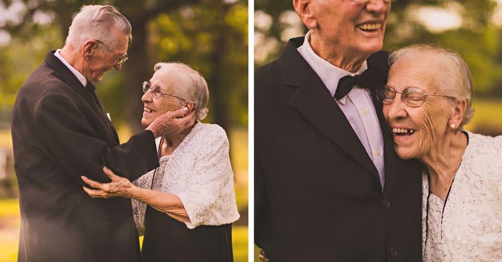 Эти влюбленные супруги устроили фантастическую фотосессию в честь 65 лет со дня их свадьбы