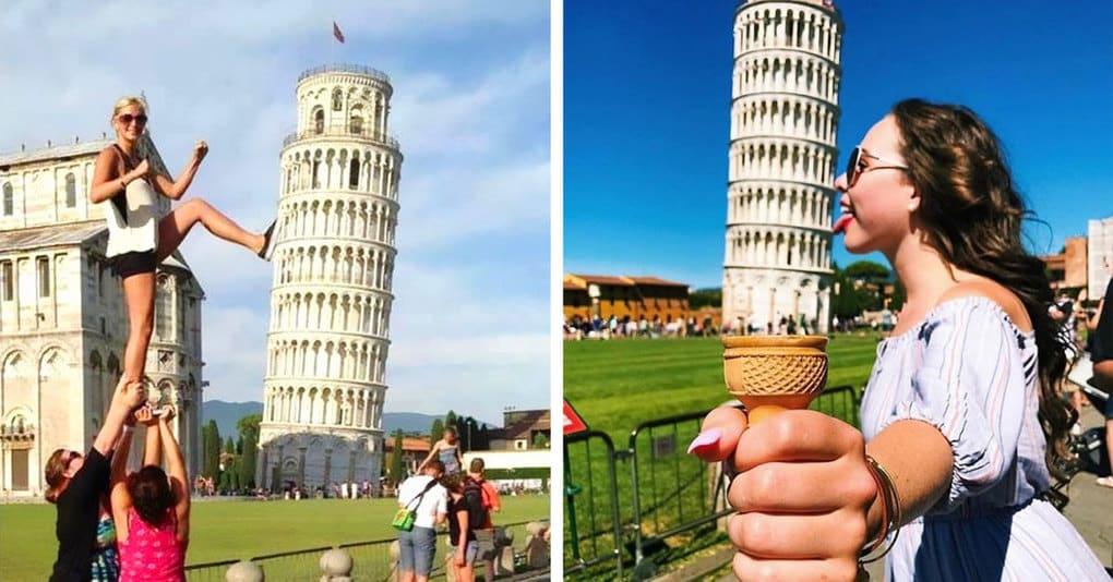 15 уморительных доказательств того, что фотографироваться с Пизанской башней не так уж и скучно