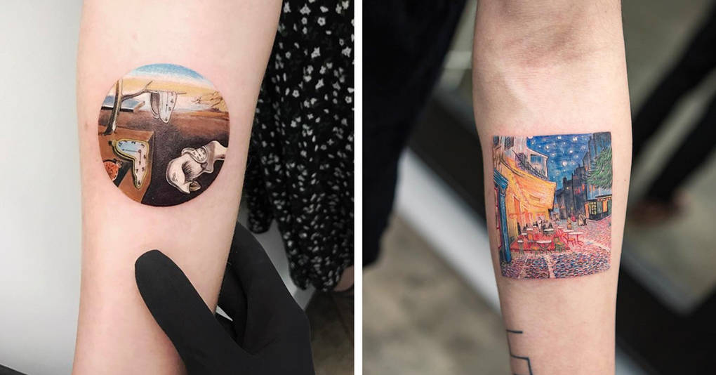 13 изящных татуировок, созданных по мотивам знаменитых картин