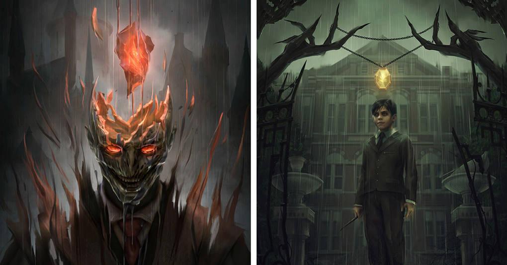 Как могли бы выглядеть постеры к Гарри Поттеру, будь это фильмы ужасов