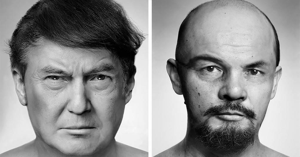 Художник создаёт жуткие портреты знаменитостей, сделанные из снимков других людей