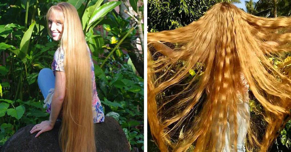 Эта девушка вот уже 7 лет носит волосы до пят и наконец решила поделиться секретом того, как ей это удаётся