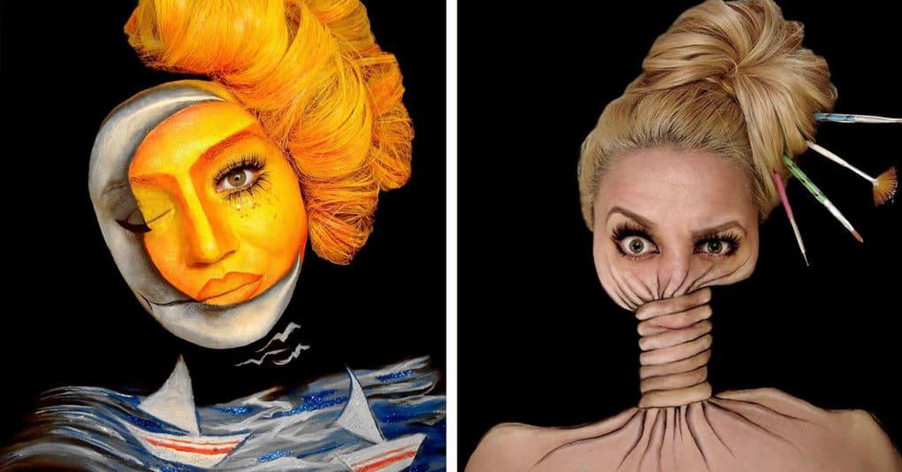 Визажист тратит по 12 часов, чтобы создать удивительные иллюзии на своем лице