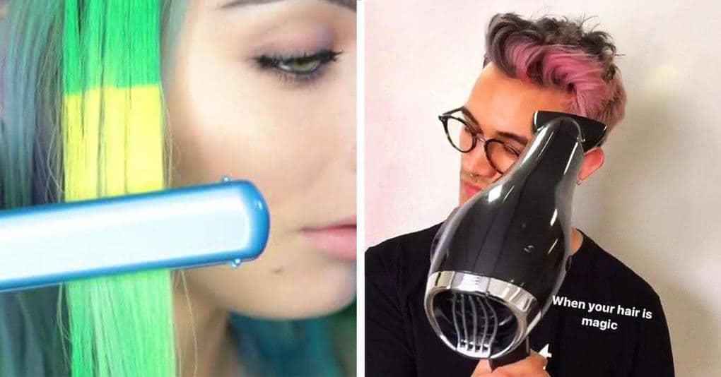 Эта краска для волос, меняющая свой цвет под воздействием тепла, свела с ума весь интернет