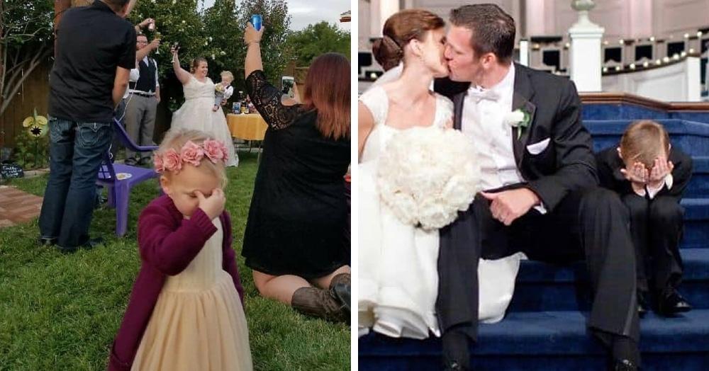 25 очаровательных малышей, которые буквально ненавидят свадьбы