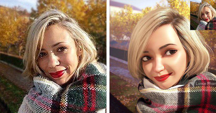 Художник превращает аватарки случайных пользователей в потрясающие 3D-портреты
