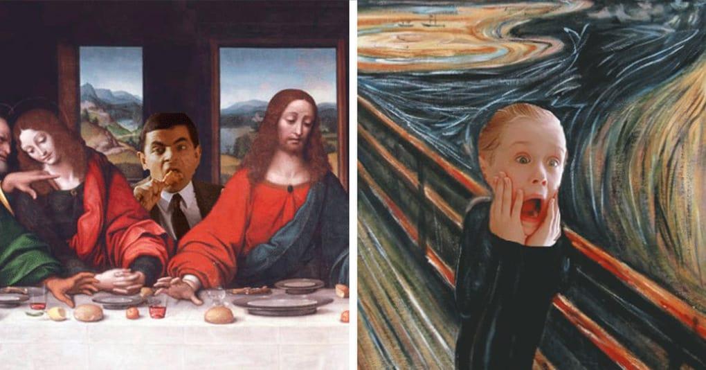 15 произведений искусства, совмещённых с персонажами современной культуры, которые вызовут у вас улыбку