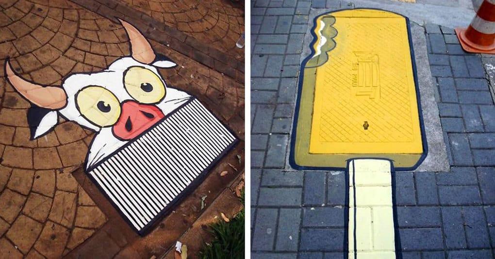 Художники используют скучные улицы города как полотно для своего искусства, и это потрясающе