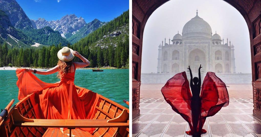 Фотограф путешествует по миру, создавая волшебные автопортреты на фоне самых красивых мест