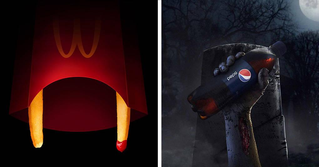 13 невероятно оригинальных рекламных плакатов известных компаний, которые решили всех напугать