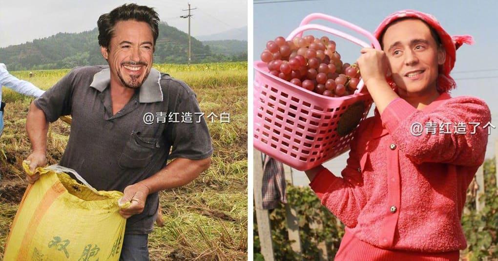 Фотошоп-мастер заставил голливудских знаменитостей хорошенько попотеть на ферме
