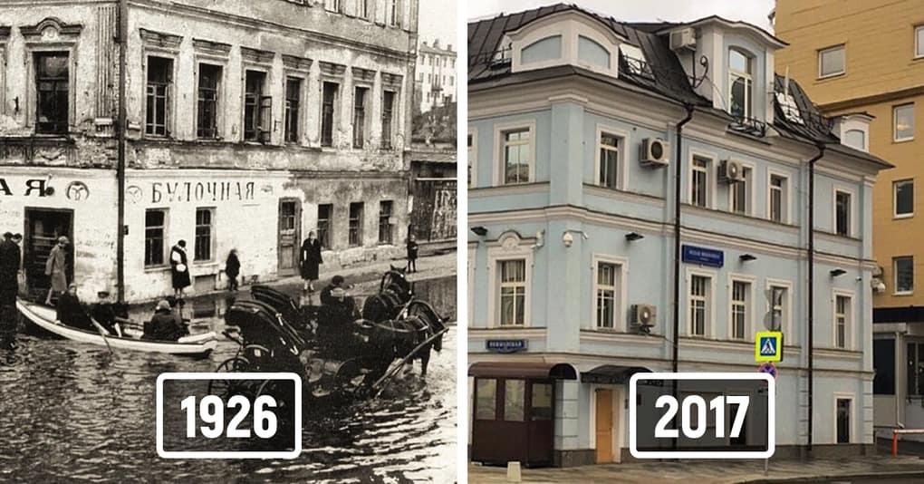 17 фотографий, которые наглядно демонстрируют, как изменились российские города с течением времени
