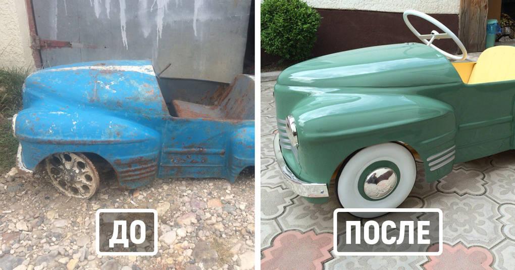 Этот мужчина восстанавливает детские машины времён СССР, делая из них потрясающие экспонаты