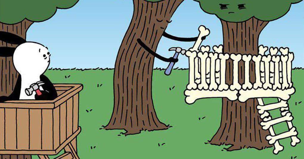 17 забавнейших комиксов с тёмным юмором о харизматичном кролике и его друзьях
