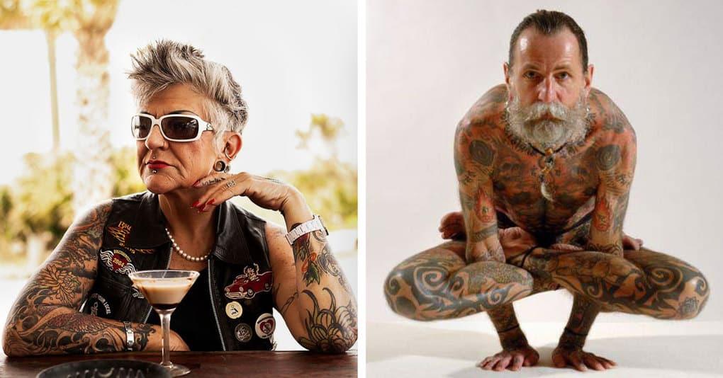 25 человек преклонного возраста, которые носят тату и выглядят при этом просто великолепно