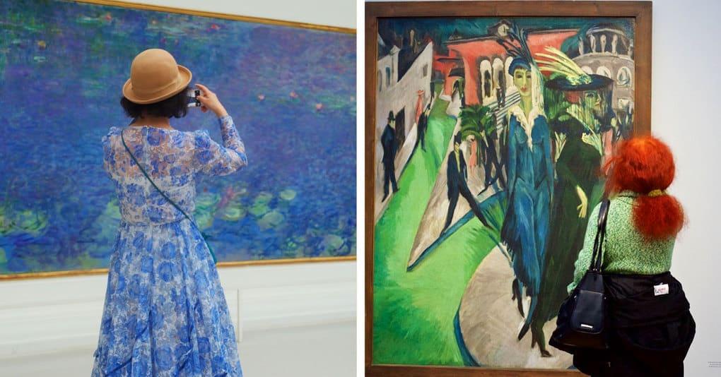 Фотограф ходит по музеям и снимает людей, которые буквально сливаются с произведениями искусства