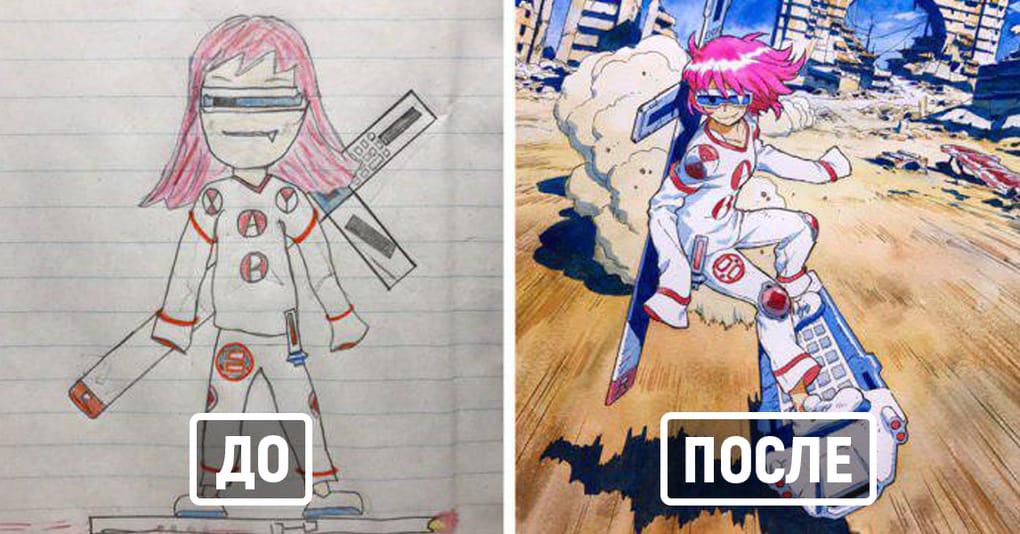20 детских рисунков, которые отец использовал в качестве идей для создания крутых персонажей