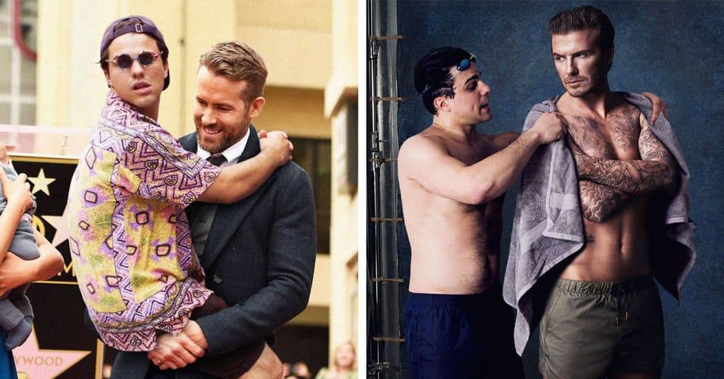 Парень настолько органично добавляет себя на фото знаменитостей, что мы не можем перестать смеяться
