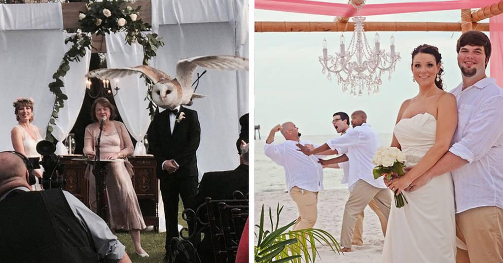 25 смешных свадебных фотографий, которые были испорчены, но это пошло им только на пользу