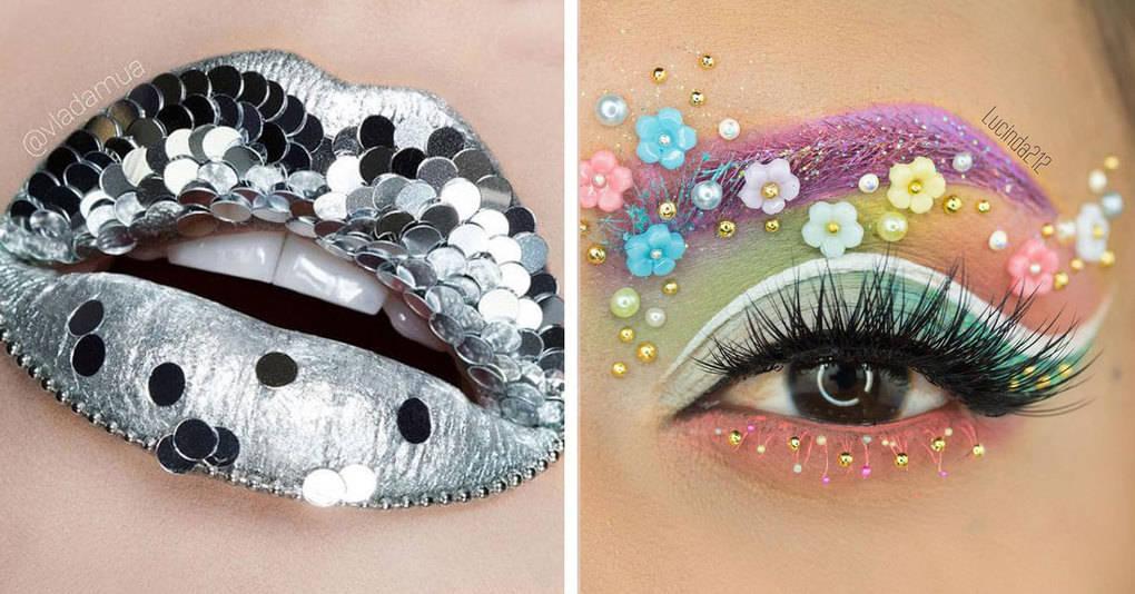 20 примеров креативного макияжа, который удивит вас своей необычностью и оригинальностью