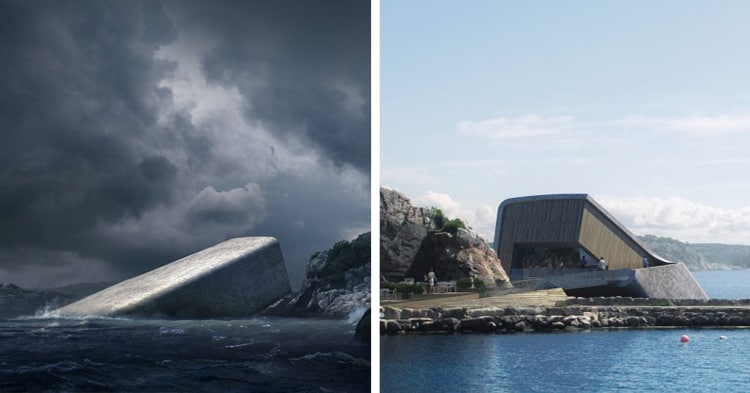 В Норвегии создали ресторан, который на 5 метров уходит под воду. Вид из его окон поистине восхищает