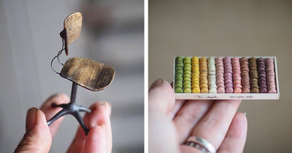 Японская художница встаёт в 4 утра, чтобы создавать эти миниатюрные предметы, и их детализация поражает воображение