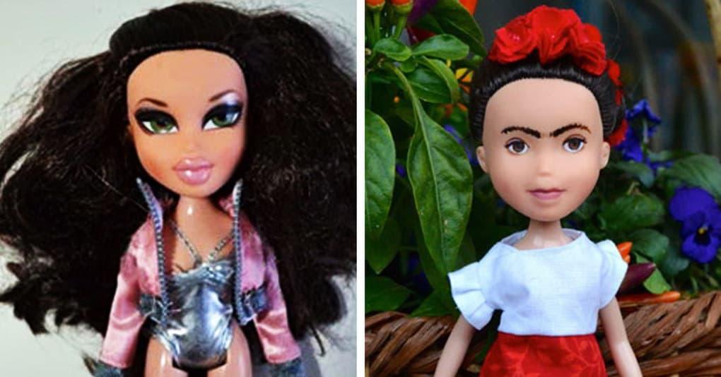 Художница превращает вызывающе накрашенных кукол в знаменитых женщин, которые сделали этот мир лучше