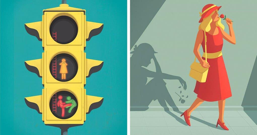 20 ироничных иллюстраций, которые наглядно отражают всю суть современного мира