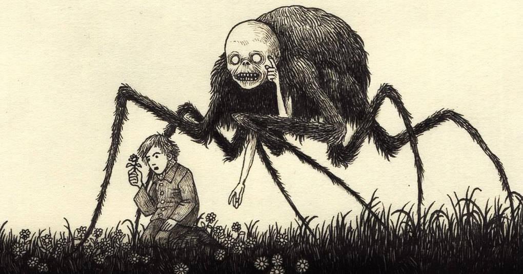 Художник рисует жутких монстров из детских кошмаров так, что даже у взрослых побегут мурашки по коже