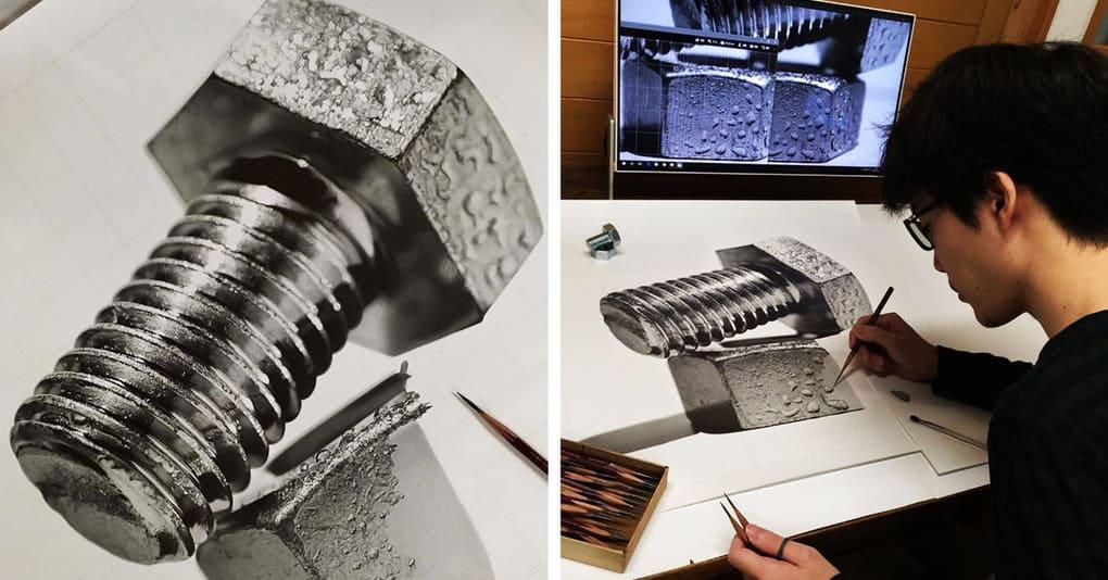 Японский художник создаёт настолько реалистичные карандашные рисунки, что вы не поверите своим глазам