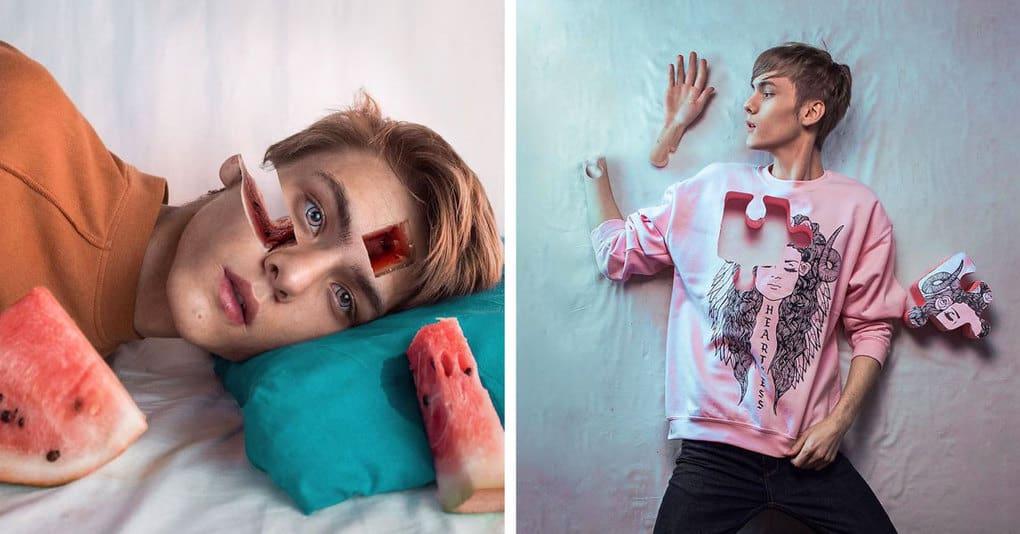 18-летний художник создаёт сюрреалистичные портреты, которые ужасают и восхищают одновременно