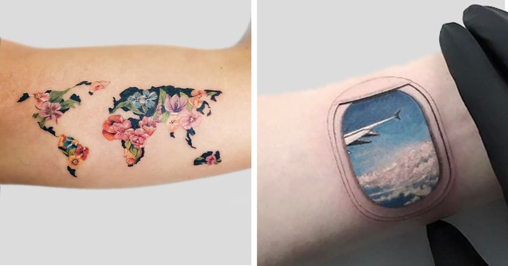 25 крутых татуировок, которые вдохновят вас уехать в путешествие как можно скорее