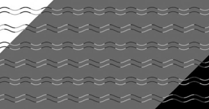 Эта новая оптическая иллюзия заставит ваш мозг видеть зигзаги вместо волн. И переубедить его будет непросто