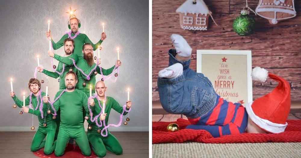 Люди по всему миру делятся своими рождественскими фотосессиями, и некоторые из них воистину гениальны