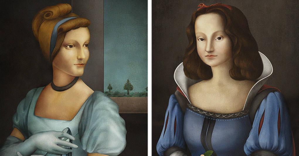 Как могли бы выглядеть диснеевские принцессы, будь они портретами, написанными в эпоху Ренессанса