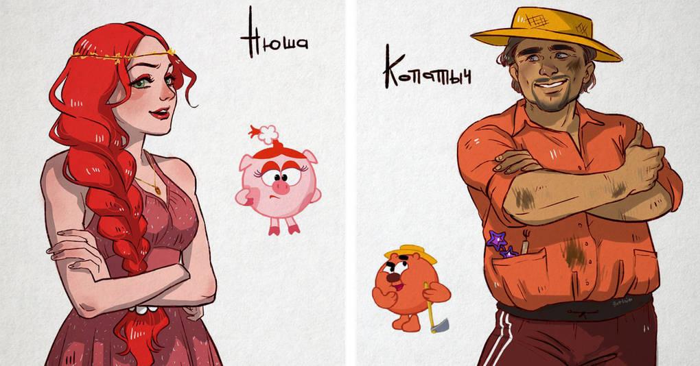 Как выглядели бы герои мультфильма «Смешарики», будь они людьми