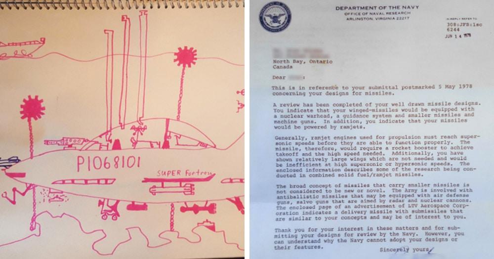 11-летний канадский мальчик отправил в Пентагон «чертёж» военной ракеты, и ему ответили. Но не с порицаниями, а по существу