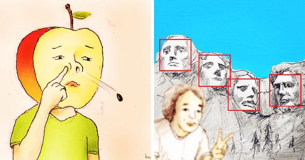 На рисунках этого японского художника постоянно происходит какой-то караул. А всё потому, что он мыслит ну очень нестандартно