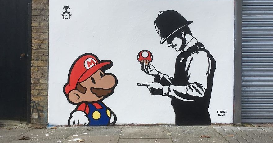 Художник рисует смелые и философские картины на улицах крупных городов мира. И, кажется, именно для таких творений были придуманы стены