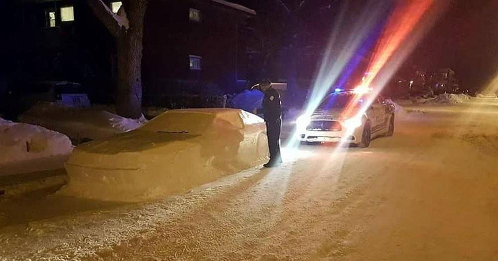 Полицейские заметили неправильно припаркованный автомобиль и уже собирались выписать ему штраф, но не тут-то было