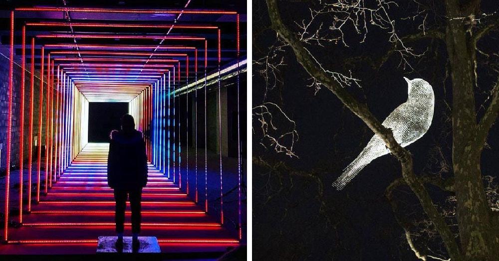 В Лондоне прошёл ежегодный ночной фестиваль светового искусства. Его посетители поделились прекрасными снимками и показали, как там было круто