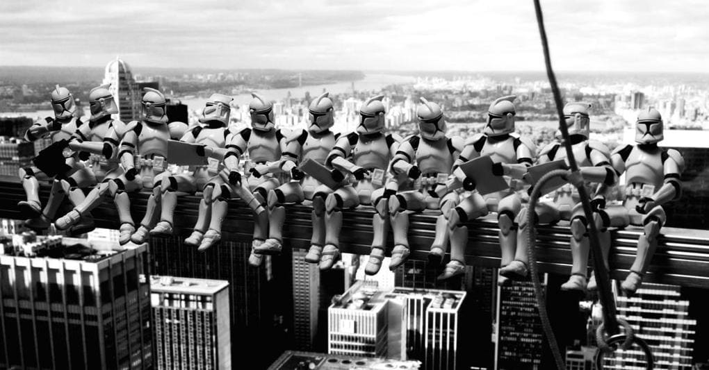 Как выглядели бы известные фотографии и картины, будь они созданы во вселенной «Звёздных войн»