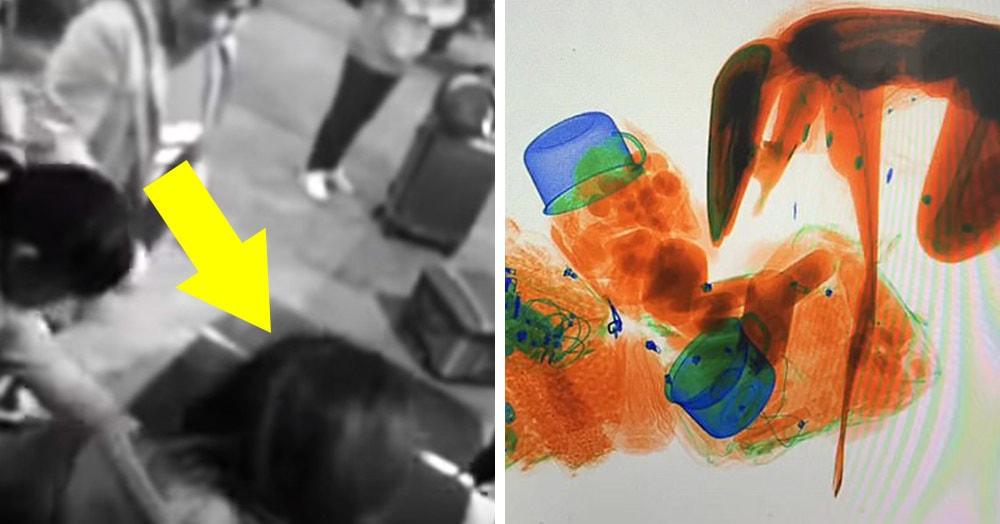 Женщина залезла в рентген на железнодорожной станции, и получившееся изображение достойно стать экспонатом музея
