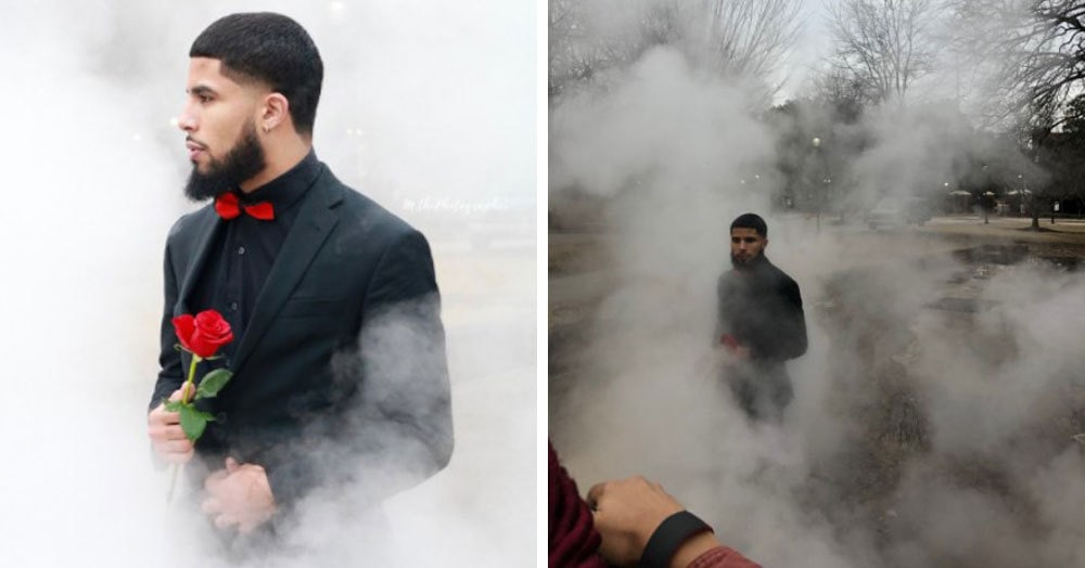 Пользователи сети запустили флешмоб, создавая потрясающие фотографии в самых невзрачных местах.  И даже на помойке