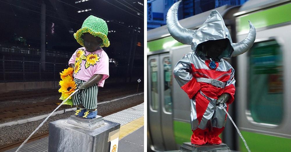 У легендарной статуи Писающего мальчика есть двойник в Токио. И гардеробу этого молодого человека позавидует любая модница